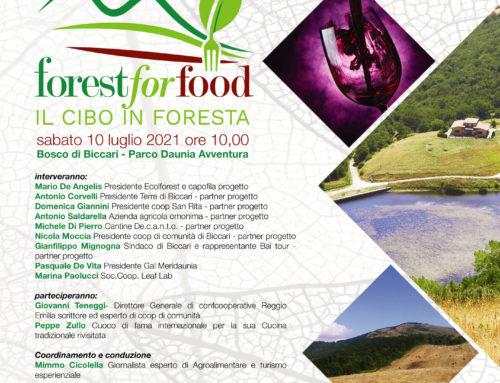 Forest for Food – Sabato 10 luglio in diretta dal Parco Daunia Avventura