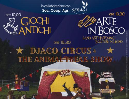 Giochi Antichi, Arte in Bosco e Djaco Circus & The Animal Freak Show